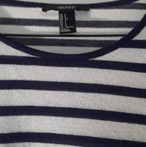 Forever 21 blue and white shirt
